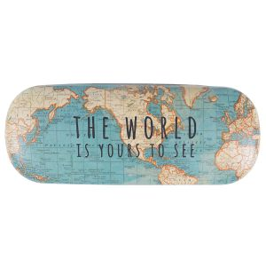 World Is Yours Vintage Map Glasses Case