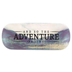 Adventure Begins Vintage Map Glasses Case