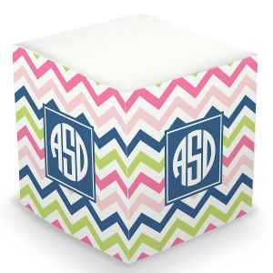 Custom Chevron Sticky Memo Cube