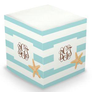 Custom Starfish Sticky Memo Cube