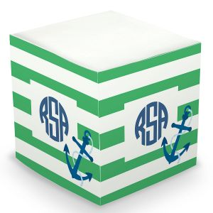 Custom Anchor Sticky Memo Cube