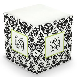 Custom Damask Sticky Memo Cube