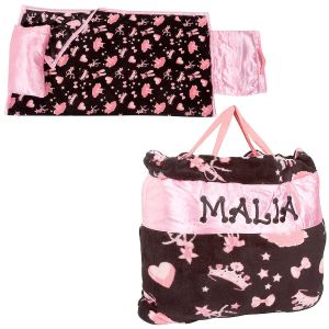 Custom Pink Ballerina Print Napbag