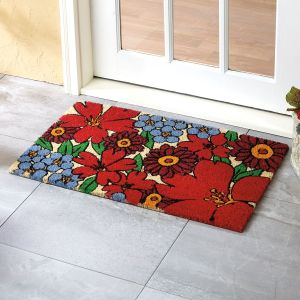 Forget-Me-Not Coir Doormat