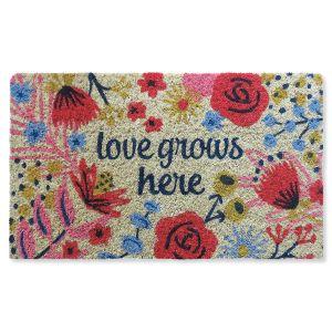 Love Grows Here Coir Doormat