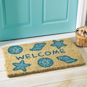 Shells Welcome Doormat