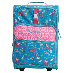 "Custom Mermaid Print 22"" Rolling Travel Luggage by Stephen Joseph®"