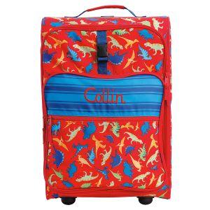 "Dino Print 22"" Custom Rolling Travel Luggage by Stephen Joseph®"