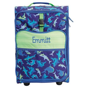 "Custom Shark Print 22"" Rolling Travel Luggage by Stephen Joseph®"