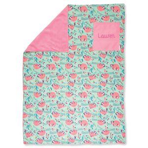 Custom All-Over Sloth Print Blanket by Stephen Joseph®