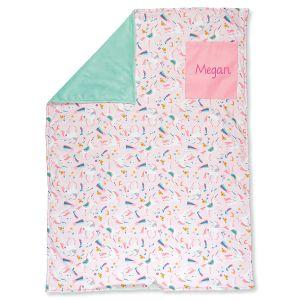 Custom All-Over Unicorn Print Blanket by Stephen Joseph®