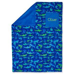 Toddler-Size Shark Custom Blanket by Stephen Joseph®