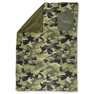 Custom All-Over Camo Print Blanket by Stephen Joseph®
