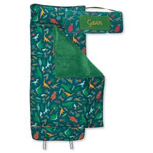 Custom All-Over Green Dino Print Nap Mat by Stephen Joseph®