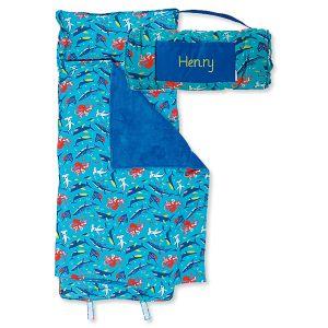 Custom All-Over Shark Print Nap Mat by Stephen Joseph®