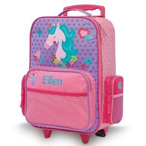 "Custom 20"" Rolling Unicorn Luggage by Stephen Joseph®"