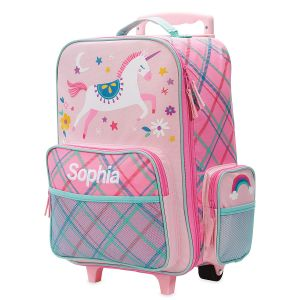 "Pink Unicorn 18"" Rolling Luggage by Stephen Joseph®"