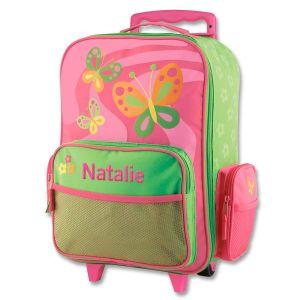 "Custom 18"" Butterfly Rolling Luggage by Stephen Joseph®"