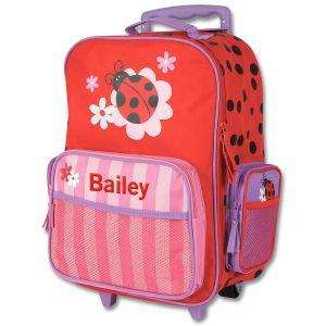 """Custom 18"""" Ladybug Rolling Luggage by Stephen Joseph®"""