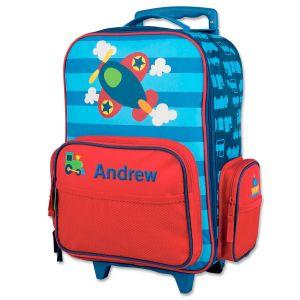 "Custom 18"" Airplane Rolling Luggage by Stephen Joseph®"