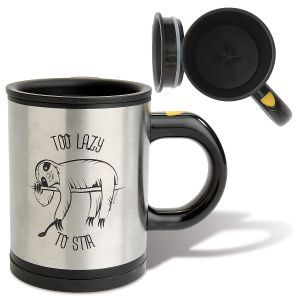 Self-Stirring Insulated Sloth Mug