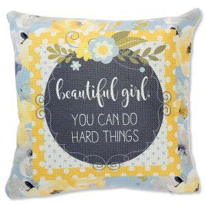 Beautiful Girl Decorative Canvas Pillow