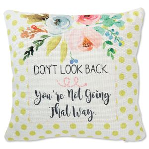 Don't Look Back Decorative Canvas Pillow