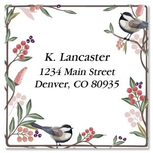 Berry Branch Large Square Return Address Label
