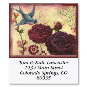 Blue Sparrow Select Return Address Labels