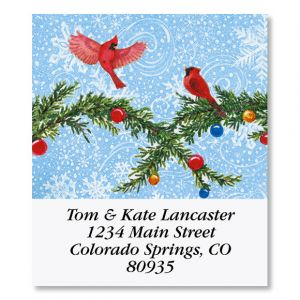 Snowman's Heart Select Christmas Address Labels