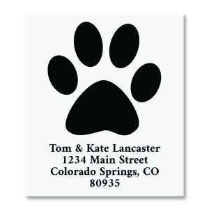 Paw Print Select Return Address Labels