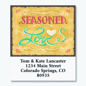 Seasoned with Love Select Return Address Labels