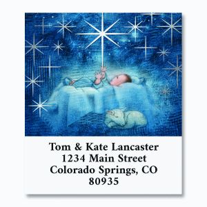 Glistening Tree Foil Deluxe Address Labels