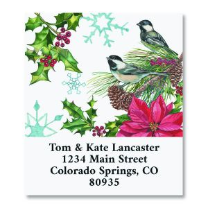 Christmas Chickadee Select Christmas Address Labels