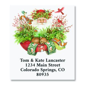 Woodland Santa Select Return Address Labels