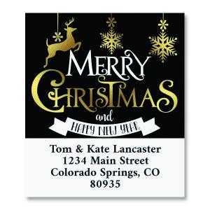 Festive Holiday Select Christmas Address Labels