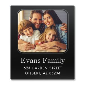 Modern Select Photo Return Address Label