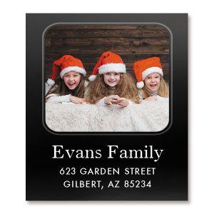Modern Select Photo Return Address Label