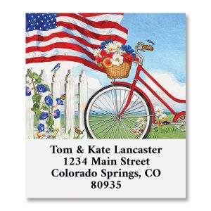 Patriotic Bicycle Select Return Address Labels