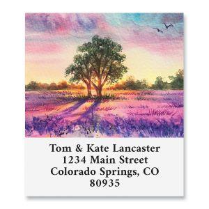 Lavender Fields Select Return Address Labels