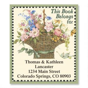 Floral Basket  Bookplates