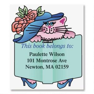 Fancy Feline  Bookplates