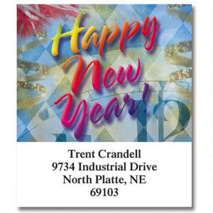 Happy New Year Select Holiday Address Labels