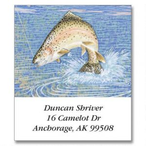 Fishing Lure  Select Address Labels