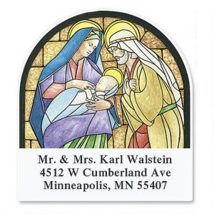 Stained Glass  Diecut Return Address Labels