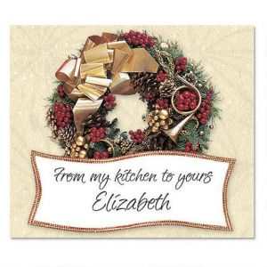 Wreath Rhapsody Personalized Goodie Labels