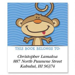 Monkey  Bookplates