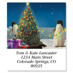 Festive Penguins Select Address Labels