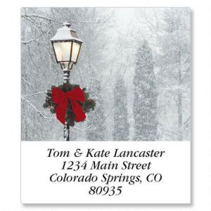 Snowy Holiday Select Address Labels