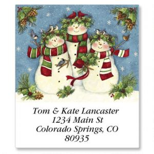 Snow Family Trio Select Address Labels